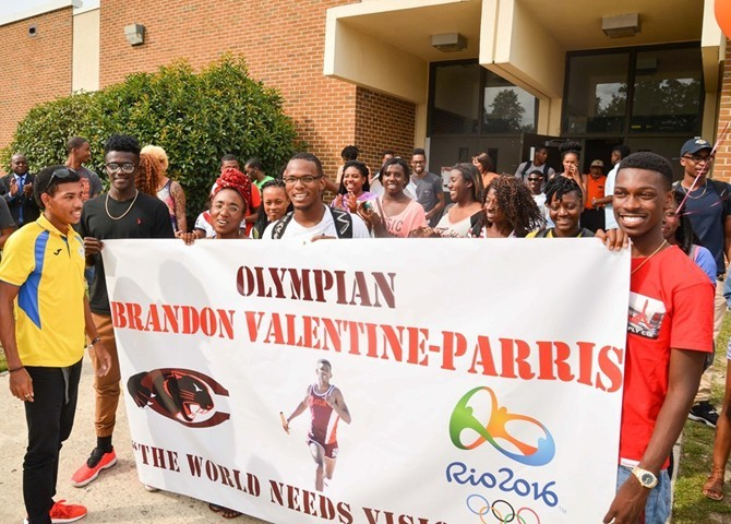 Claflin University Welcomes Valentine Parris Back From Rio Olympics