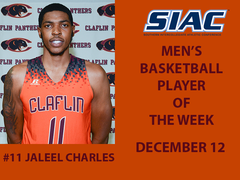 reputable site e6ee2 9f4e1 Charles Earn Second SIAC Men's Basketball Player of the Week ...